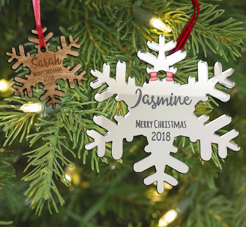 52f9ab179925e 3mm Mirror Acrylic Christmas Tree Decorations First Christmas In Our New  Home PERSONALISED Christmas Xmas Tree Decoration ...