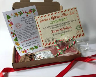 """Personalised Children's Xmas Eve Box Includes Magic Key and """"Naughty or Nice"""" Santa Certificate"""