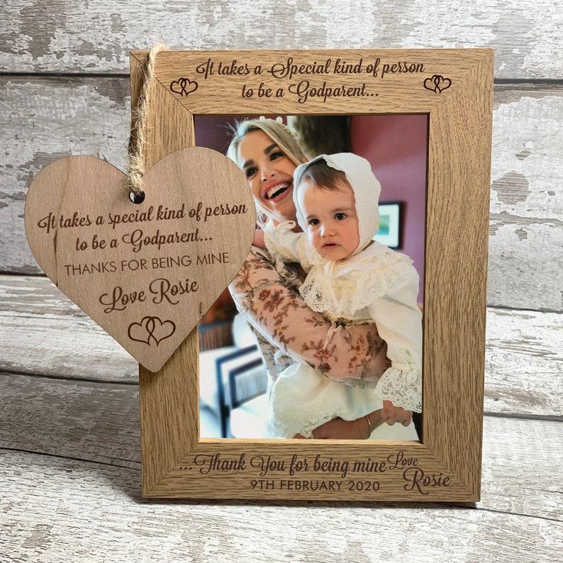 Personalised Godparent Gift Photo Frame 7 x 5  image 0