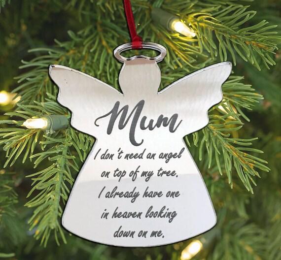 Personnalisé Gravé Luxe Verre Christmas Tree Baubles message Décorations