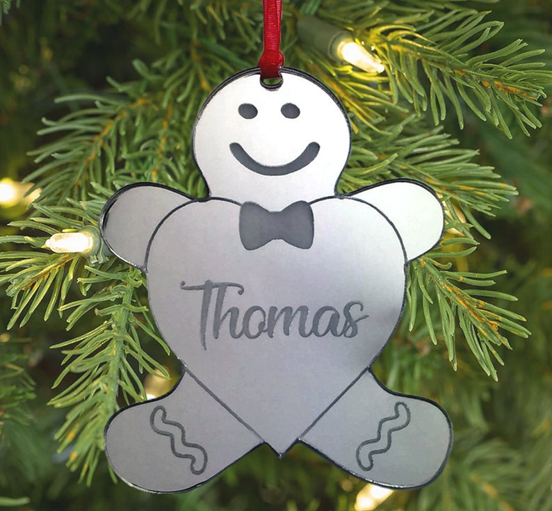 Gingerbread Hanging Dog//Puppy Christmas Tree Decoration Personalised