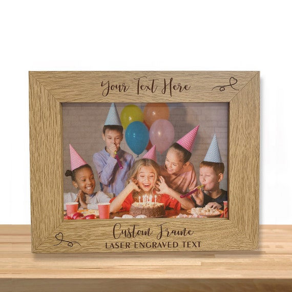 """Horizontal Personalized Baby Picture Frame Wall Picture Frame Customizable   Perfect for Baby Gifts 5x7,4/""""x6/""""  Engraved Custom Picture Frame Custom Engraved /& Adler Wood Frame Horizontal"""