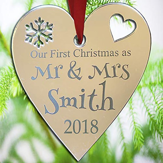 First Christmas as Mr & Mrs Ornament