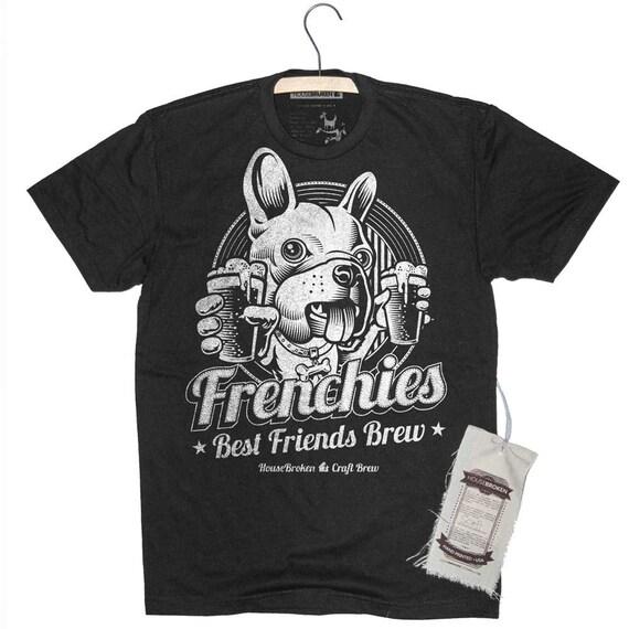 Französische Bulldogge Hund Herren Shirt Handwerk Bier Hause   Etsy bf55cf5dc6