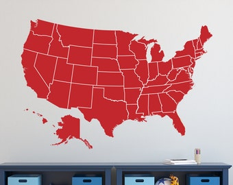 wall decal usa america map 01 learn geography removable vinyl sticker map of the united states