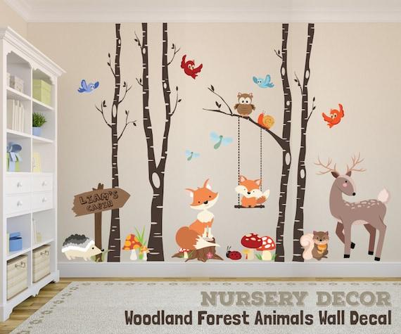 WOODLAND NURSERY Decor Wall Decal TREES Fox Nursery Trees