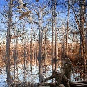 Mallard Duck Art Painting Print Bayou Meto Morning