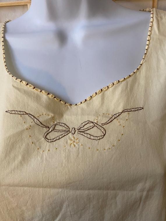 Handmade Italian vintage cotton nightgown - vinta… - image 1