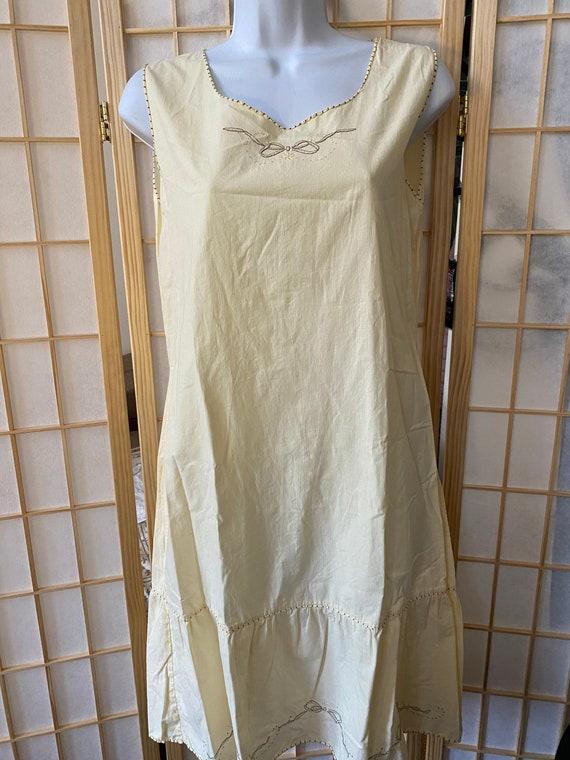 Handmade Italian vintage cotton nightgown - vinta… - image 4