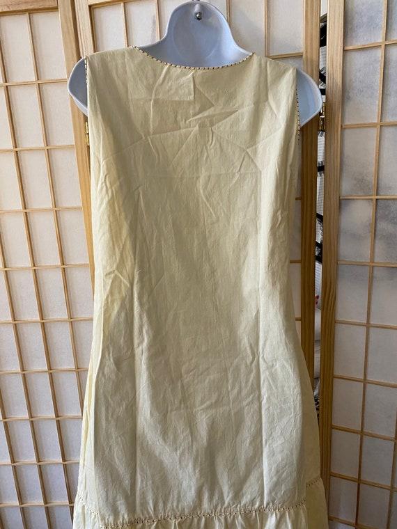 Handmade Italian vintage cotton nightgown - vinta… - image 5