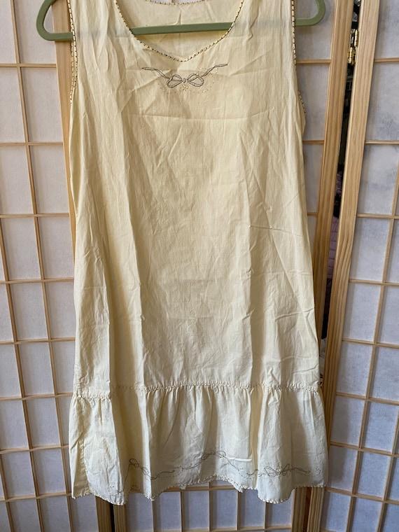 Handmade Italian vintage cotton nightgown - vinta… - image 3