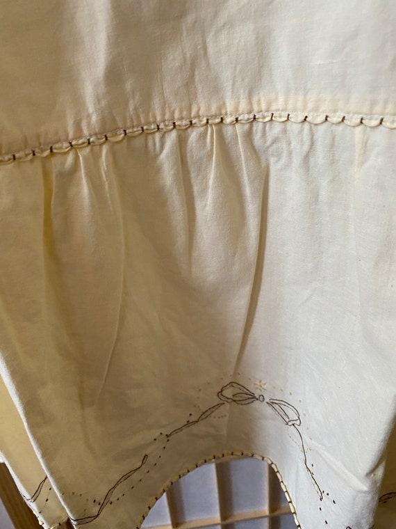 Handmade Italian vintage cotton nightgown - vinta… - image 6