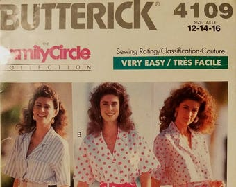 Butterick 4109 - Very Easy Misses' Top, Pants, Shorts, & Sash Pattern - Sizes 12, 14, and 16 - Ladies and Women's Summer Clothes Pattern