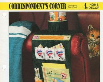 Correspondent's Corner Plastic Canvas Pattern, Annie's International, Home Decor Plastic Canvas, PLCX320-08