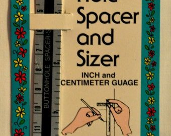 LAST CHANCE SALE - Buttonhole Spacer and Sizer - Collins