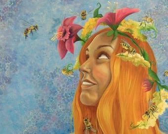 My Honey Bee Print 12x16