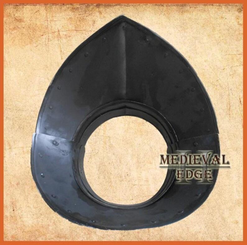 medieval gorget steel Armour larp sca reenactment