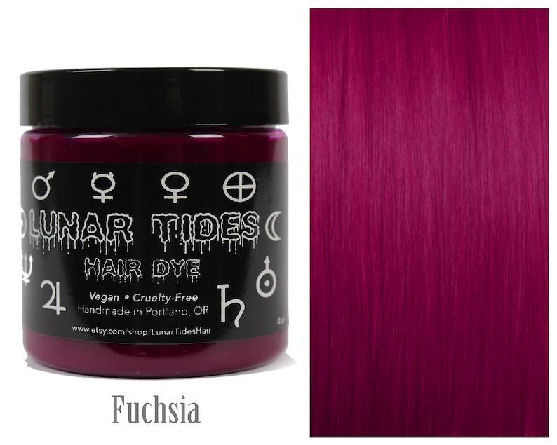 Teinture Pour Les Cheveux Rose Fuchsia Fonce Etsy