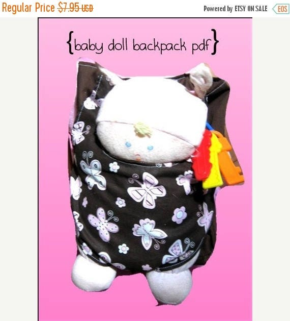 Baby Doll Backpack Carrier For American Girl Doll Bitty