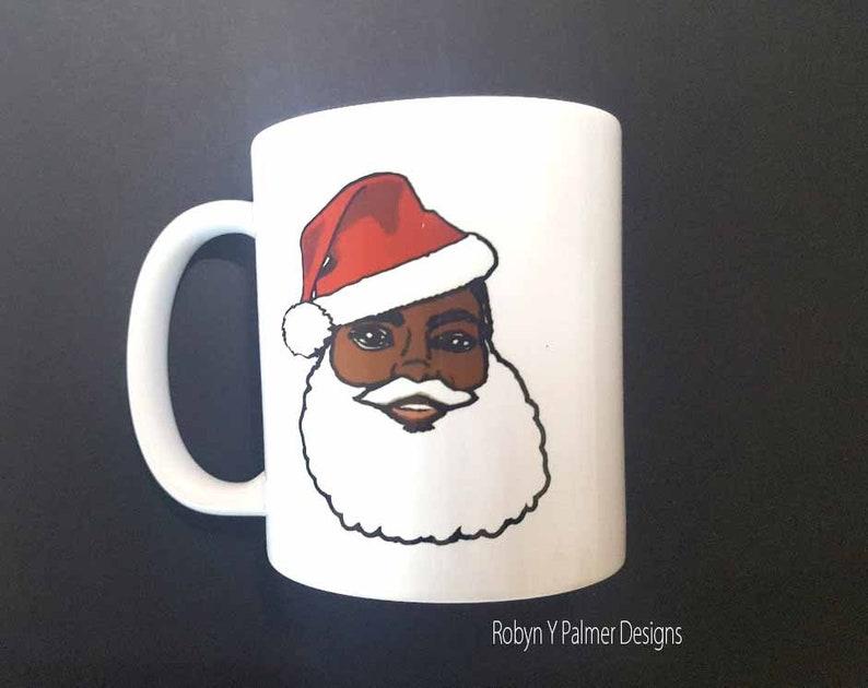 Mug   Black Santa Claus Soulful Christmas mug   Secret Santa image 0