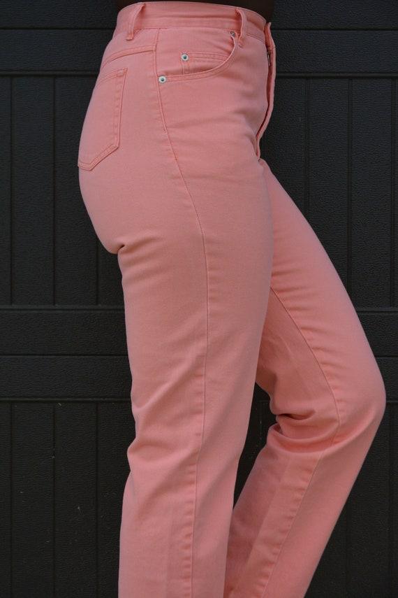 1990s Vintage Pink Jeans - image 2