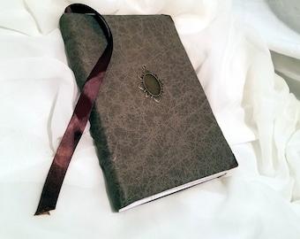 handbound faux leather book blank journal