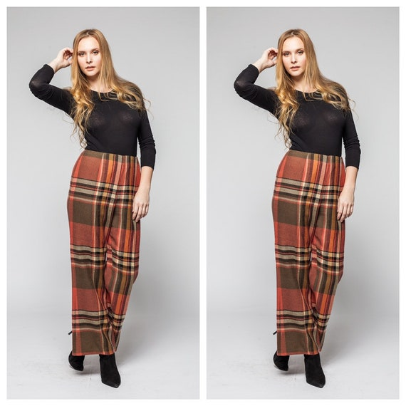 Plaid Life/ Vintage Plaid Pants/ Women's Pants/ Pl