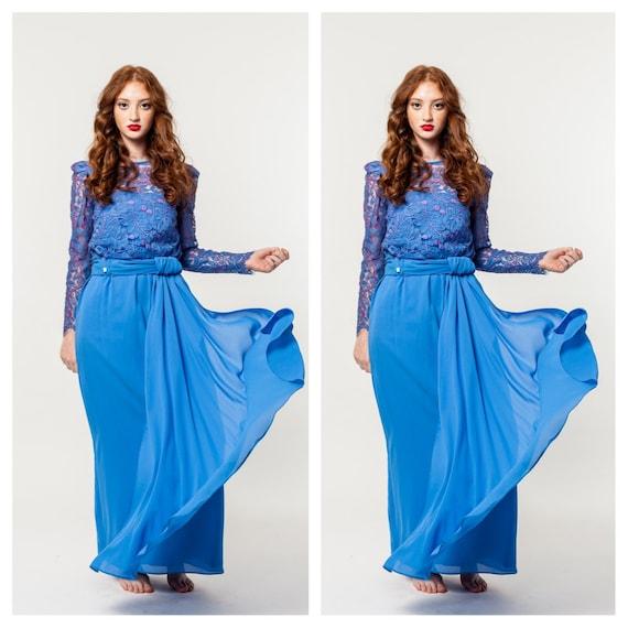 Same Bohemian Blues Maxi Dress
