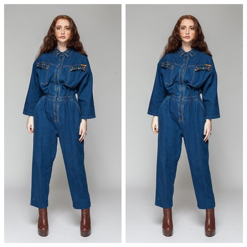 bfa45fb4588 Conquer the World  Denim Jumpsuit   Jumpsuit from the 80s