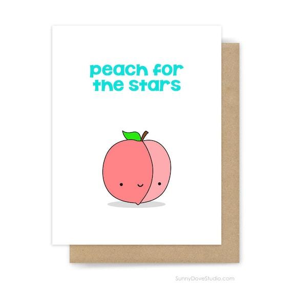 graduation congratulations card congrats peach pun college etsy
