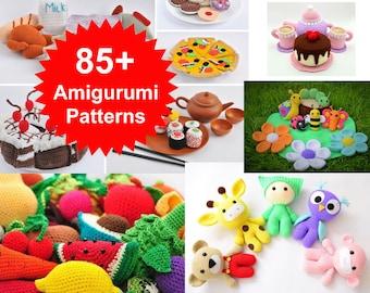 Roundup: 20 Free Crochet Patterns for Pretend Play Food - CrochetKim™ | 270x340