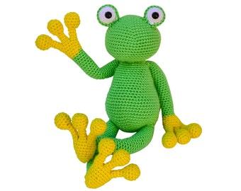 Amigurumi Frog Crochet Pattern, crochet toy pattern, crochet for kids patterns, crochet frog pattern