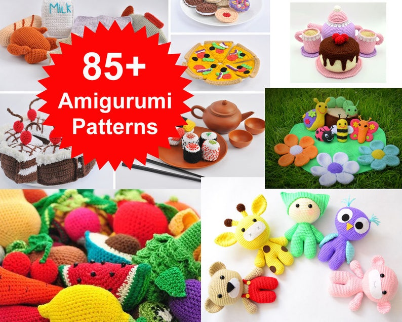 Best Deal on Etsy Amigurumi Patterns. Over 85 Crochet Play image 0