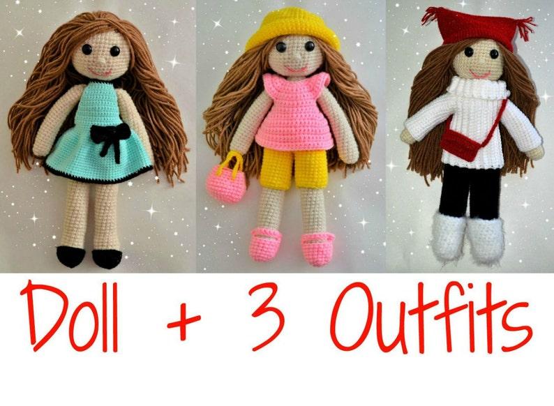 12+ Free Crochet Doll Clothes Patterns | FaveCrafts.com | 582x794