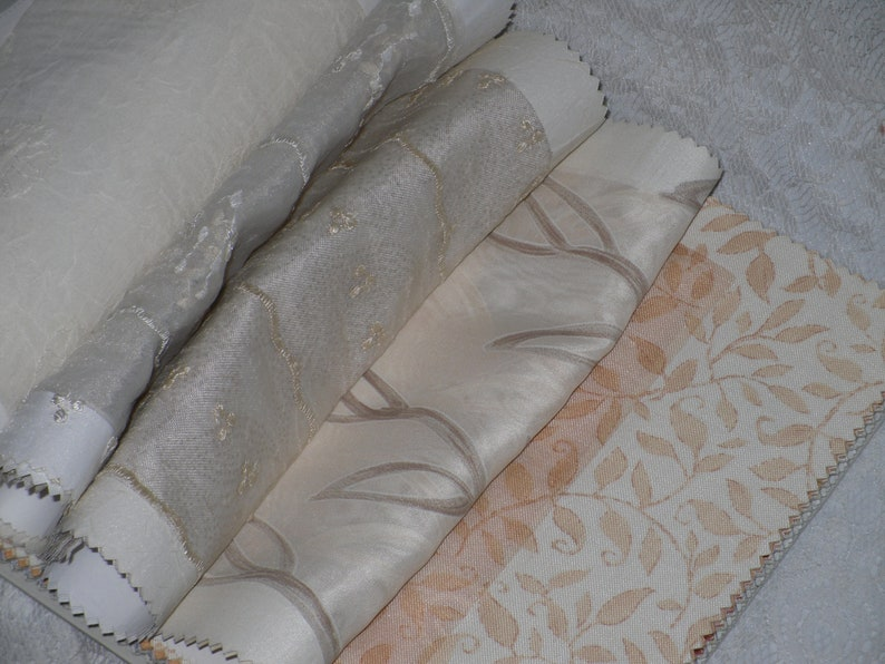 Robert Allen Home Fabric Sample Book Bright Lights Sheer 62 Swatch Pieces