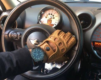 Men's Unique Driving Leather Gloves