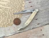 Vintage Style White Bone Texas Toothpick Pocket Knife Mini Fishing Knife Pendant Small Knife Findings Grandfather Whittling Pocketknife 046