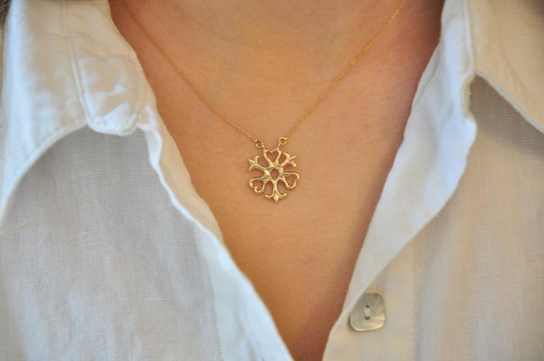 Celtic Jewelry 14k Gold Necklace Yellow Gold Jewelry Solid Gold Necklace Gold Jewelry Gift for Girlfriend 14k Gold Pendant