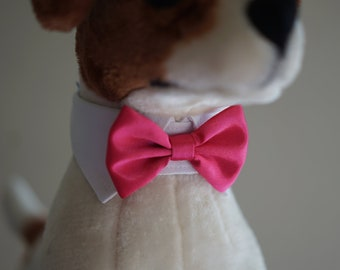 e556c1bf4b0f Hot Pink dog bow tie collar, dog tuxedo collar, dog bowtie, dog formal  collar, pet bow tie, pet / dog wedding bow tie, dog tuxedo bandana