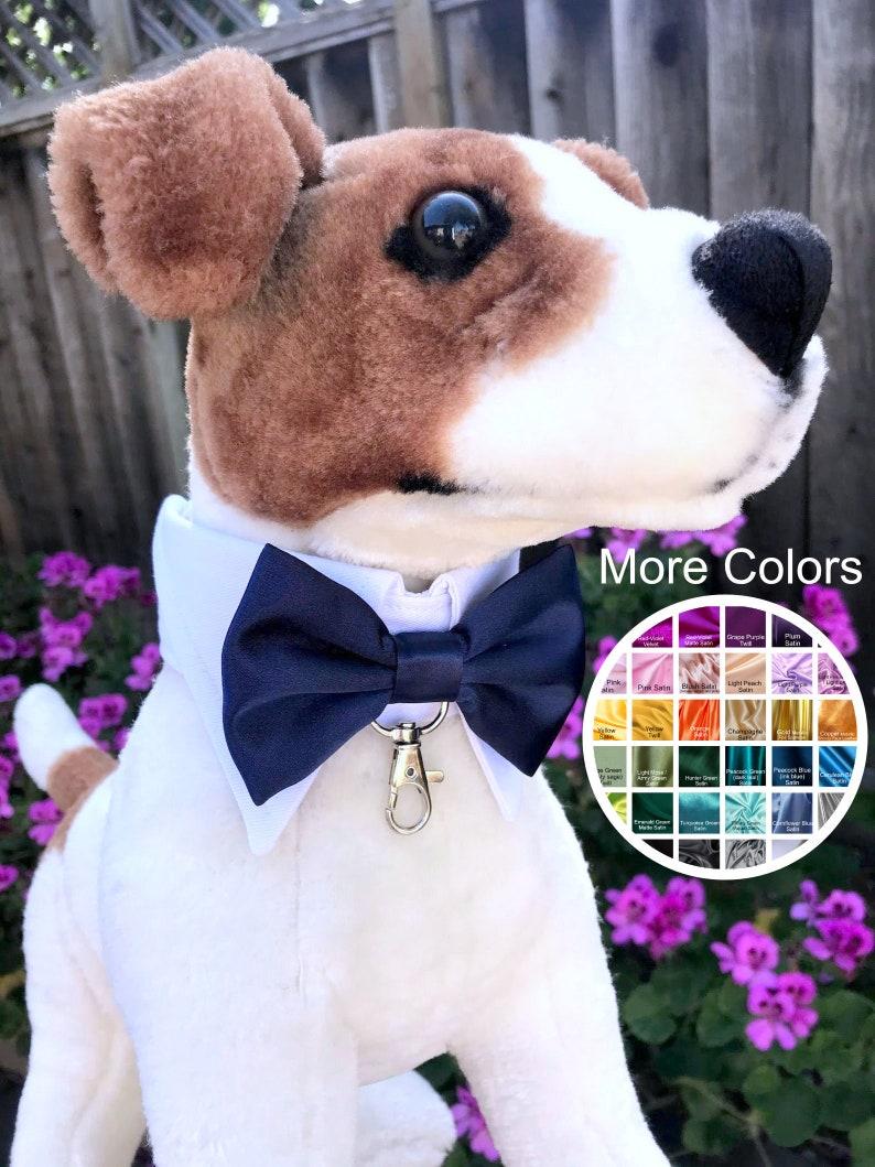 Dog bowtie collar Dog ring bearer Bow Tie Dog Collar dog image 1