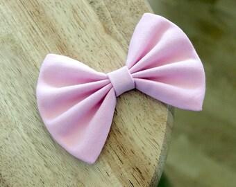 """4"""" pink fabric hair bow clip, pink hair bow, girls hairbows, pink bow, hairbow for teens, bows, girls hair bow, women hair bow clip"""