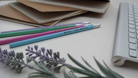 Meeting I Heard Margarita Pencil Set // Office Supplies // | Etsy