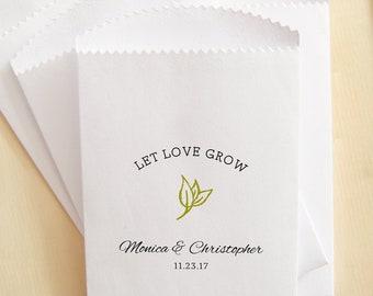 laisse Love Grow X10 personnalisé mariage faveur merci de semences enveloppes cadeau