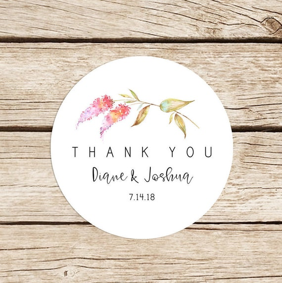 thank you stickers for wedding favors personalized stickers etsy