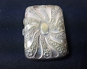Antique Cigarette Case Silver Plated Victorian 1800 39 s Original