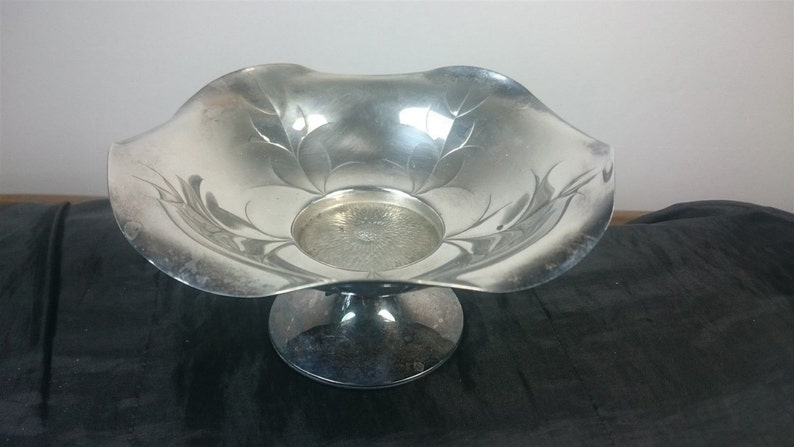Vintage Art Deco Cropp and Farr Silver Plated Footed Pedistal Centerpiece or Serving Bowl 1920/'s 1930/'s