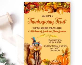 thanksgiving invites etsy