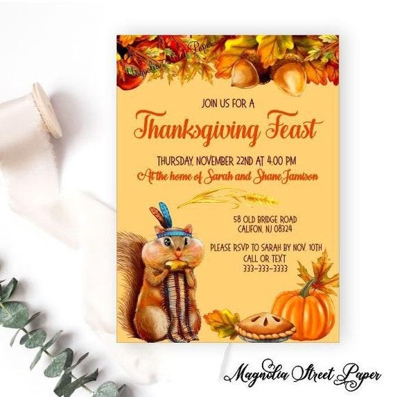 thanksgiving invitation funny harvest party invitation
