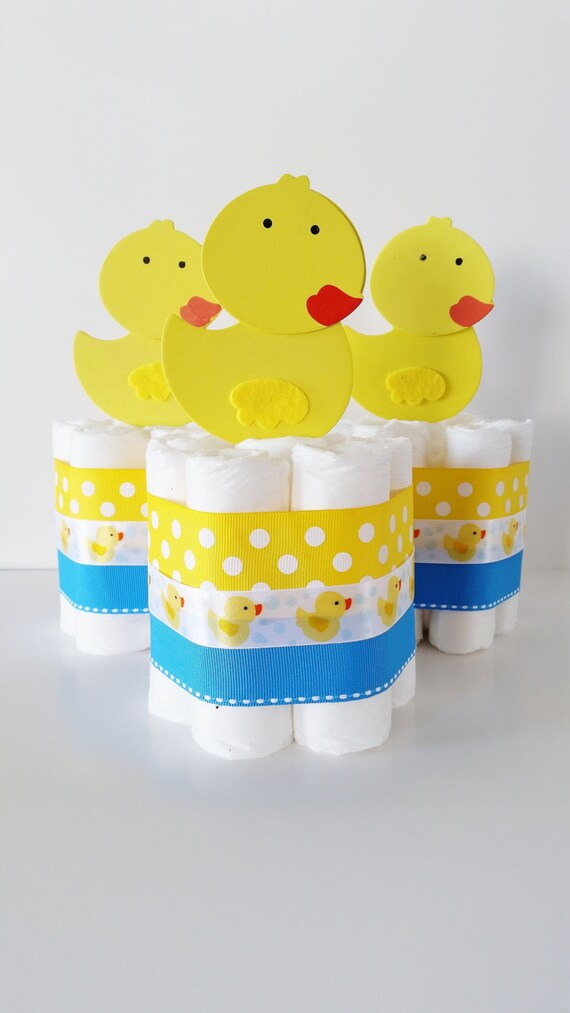 Rubber Ducky Baby Shower Centerpieces Rubber Ducky Diaper Etsy