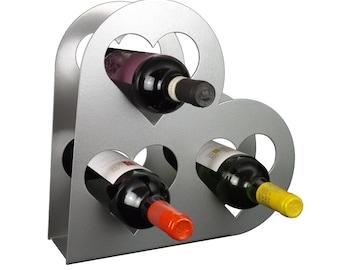 Heart wine storage rack